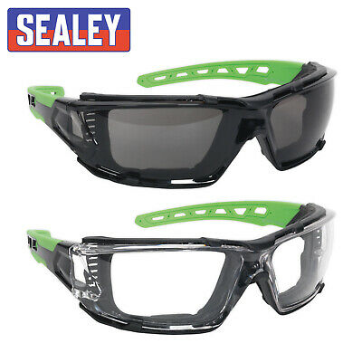 £12.06 • Buy 2x Sealey Polycarbonate Safety Glasses Goggles EVA Foam Lining - Clear + Tinted