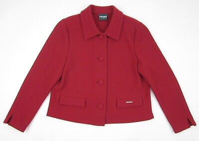 $46 • Buy Geiger Collections Austria Red 100% Boiled Wool Jacket Size 42 US Large 12