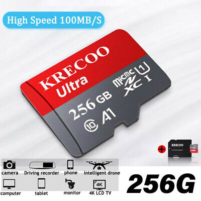 $8.99 • Buy Memory Card 256GB 95MB/S Class10 Flash TF Card With Adapter Universal 2020 New