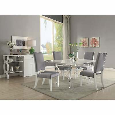 $1800.99 • Buy Acme Martinus White And Acrylic Dining Table N/A