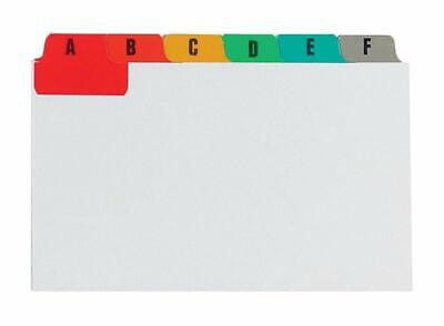 £3.59 • Buy Concord Index Records Guide Cards 24 Positions A-Z Multi-Coloured Mylar Tabs