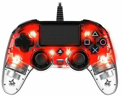 Nacon Compact Sony Playstation PS4 Controller - Clear Red • 24.99£