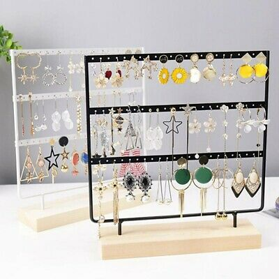 AU22.99 • Buy 2/3 Layer Wooden Earring Display Stand Holder Jewelry Necklace Rack Organizer