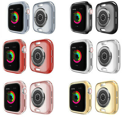 $ CDN5.79 • Buy TPU Watch Bumper Case For Apple Watch Series 5 4 3 2 38/42/40/44mm Frame Cover