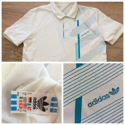 Adidas Originals T-Shirt White Cotton/Modal Made In Westgermany • 20.98£