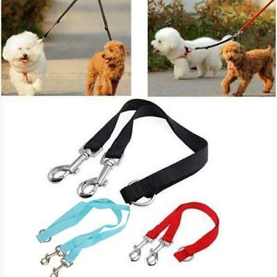 AU4.68 • Buy 2 Way Double Dog Leash Dual Coupler Pet Puppy Leads For Two Dogs Walking LS3