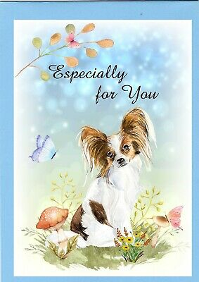 £2.20 • Buy Papillon Butterfly Dog (4 X6 ) Especially For You Card -blank Inside - Starprint