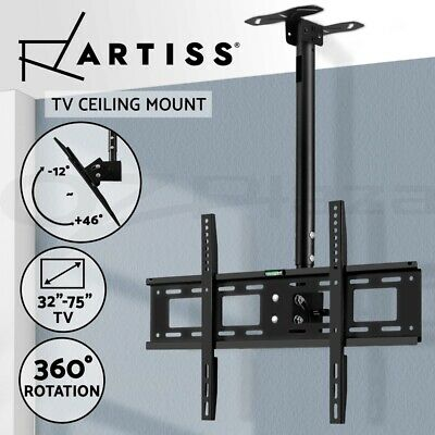 AU45.95 • Buy Artiss TV Wall Mount Bracket Ceiling Tilt Swivel 32 42 50 60 65 70 75 Inch