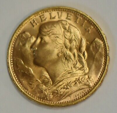 $349.95 • Buy ( 1 ) 1949 B Helvetia Swiss Gold 20 Francs Coin