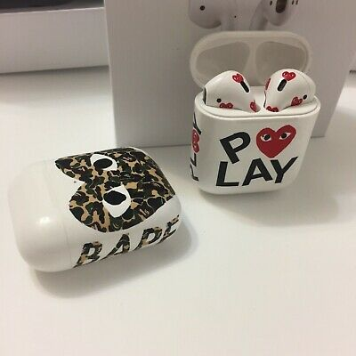 $ CDN469 • Buy Comme Des Garcons Apple Airpods 2 Inspired CDG PLaY - BapexCDG Love Airpods