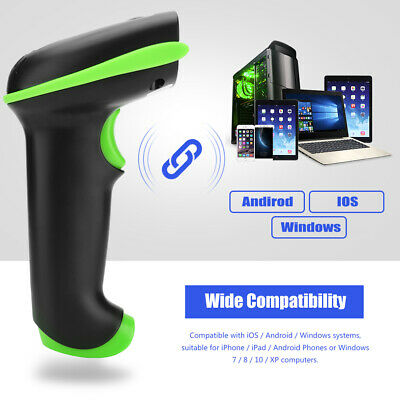 £26.81 • Buy Handheld 2.4G Wireless Laser Barcode Scanner For IOS Android Windows