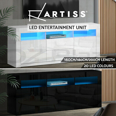 AU189.95 • Buy Artiss TV Cabinet Entertainment Unit Stand RGB LED Gloss Furniture 160/180/200cm