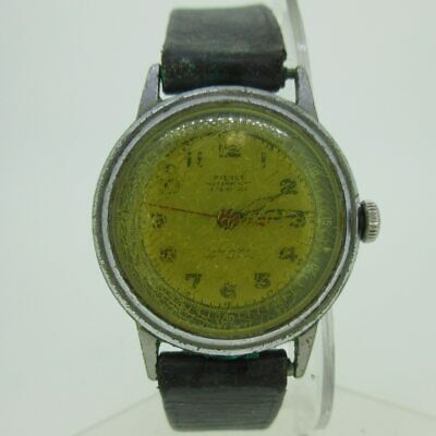 $ CDN90.66 • Buy Vintage Pierce Watch Co. Inc. Swiss Military Style 17J Silver Tone Watch Parts