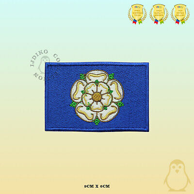 £2.29 • Buy YORKSHIRE County Flag Embroidered Iron On Sew On Patch Badge For Clothes Etc