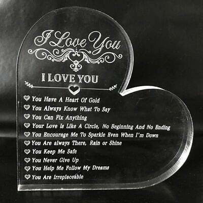 10 Reasons Why I Love You - Personalised Valentines Gift - Romantic Heart UK • 5.98£