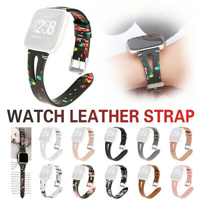 $ CDN13.23 • Buy Genuine Leather Replacement Wrist Watch Band Strap Bracelet For Fitbit Versa