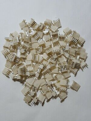 $6.99 • Buy 4 Pin PCB Mount Right Angle Male Header Connector 100 Pieces