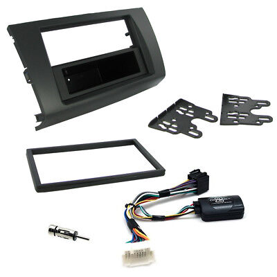 AU158.29 • Buy Suzuki Swift Double Din Fascia Panel W/ Steering Controls Car Stereo Fitting Kit