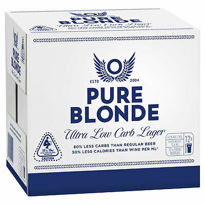 View Details Pure Blonde Ultra Low Carb Beer 12 X 700mL Bottles • 49.00AU