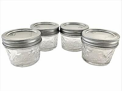 $11.66 • Buy Mason Ball Jelly Jars-4 Oz. Each - Quilted Crystal Style-Set Of 4