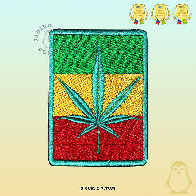 BOB Marley Rasta Flag Embroidered Iron On Sew On Patch Badge For Clothes Etc • 2.19£