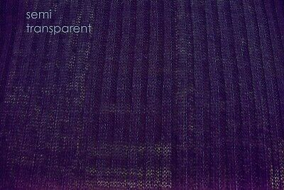 Deep Purple Fine Wool Blend Light Weight Premium Knitted Rib  Made In Italy D121 • 4.75£