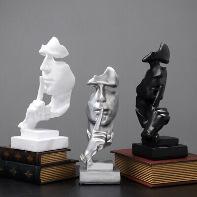 Abstract Face Resin Figure Statue Craft Sculpture Ornament Art Office Home Decor • 15.49£