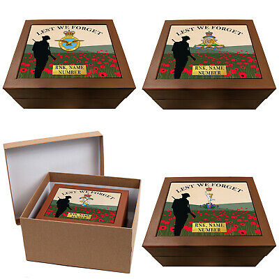 Personalised Military Keepsake Box Remembrance Storage Box Memory Official Gift • 12.95£