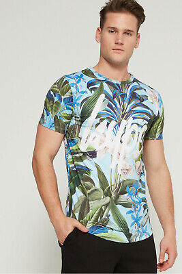 Hype Print T/Shirt (Tropical Script) New With Tags Sizes XXS, & X/Small  • 7.99£