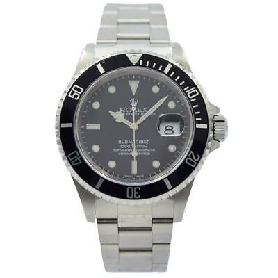 $ CDN11054.57 • Buy Rolex Submariner - 16610 - Black Dial And Stainless Bezel Circa 2000 - 40mm