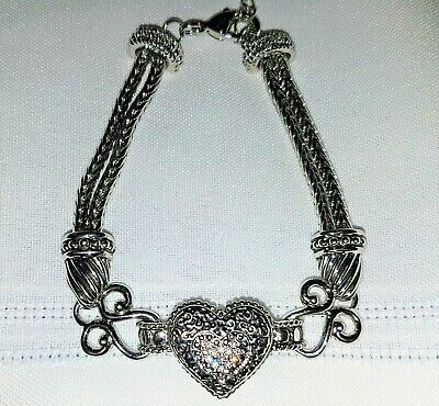 $ CDN31.62 • Buy  Lia Sophia  Love Dust  Cut Crystal Heart Bracelet Valentines Day