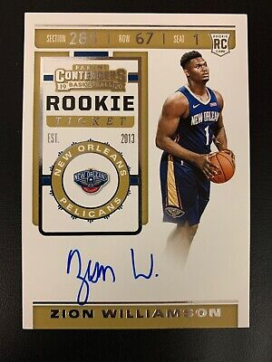 $2550 • Buy 2019-20 Contenders Rookie Ticket ZION WILLIAMSON Autograph Variation Base Auto