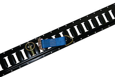 $127.25 • Buy 8 Pcs Of Black Painted E-Track W/ 8 Tie Offs And 8 O Rings For Interior Trailers
