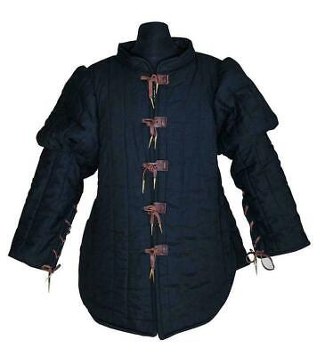 Medieval Only Gambeson Black Clothing Mast Great Theater Reenactment Smart • 64.77£