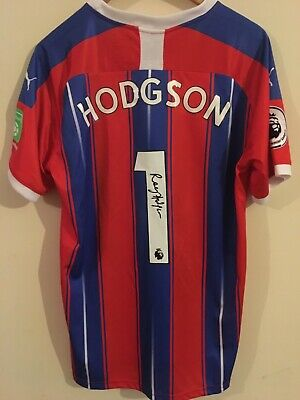 ROY HODGSON SIGNED CRYSTAL PALACE 2019/2020 Shirt BNWT ***WITH EXACT PROOF*** • 99.99£