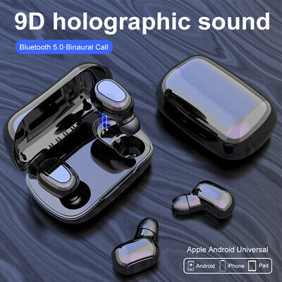 AU15.99 • Buy True Wireless TWS Earbuds Bluetooth 5.0 Earphones Mini In-Ear 3D Stereo Headset