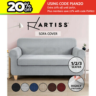 AU34.95 • Buy Artiss Sofa Cover Couch Covers 1/2/3 Seater Slipcovers Protector Set Stretch