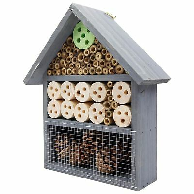 £11.49 • Buy Large Wooden Insect Bee Hive Garden Nesting Box House Natural Wood Shelter HOTL5