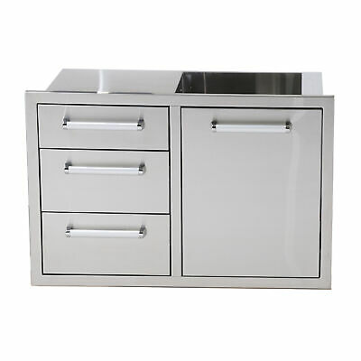 $579.99 • Buy Bonfire Outdoor Patio Kitchen Stainless Steel Triple Drawer & Trash Can Drawer