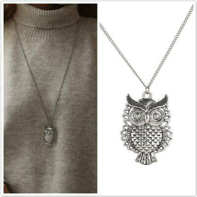$ CDN1.91 • Buy Fashion Womens Hollow Owl Animal Long Pendant Necklace Sweater Chain Jewelry