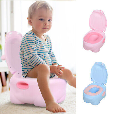 Portable Baby Potty Kids Children Training Toilet Trainer Stool Wth Cushion • 16.99£
