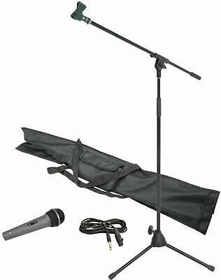 Chord Dynamic Microphone, XLR Cable & Stand Boom Arm Kit With Carry Bag - BLACK  • 26.95£