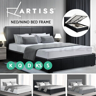 AU189.95 • Buy Artiss Bed Frame Gas Lift Queen Double King Single Size Base Platform Neo/Nino
