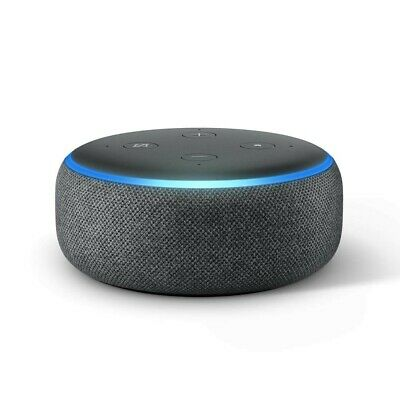AU41 • Buy Echo Dot (3rd Gen) – Smart Speaker With Alexa Charcoal Fabric FREE FAST POSTAGE