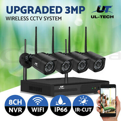 AU215.99 • Buy UL-tech CCTV Security Camera System Home Wireless Set Outdoor IP WIFI 1080P 8CH