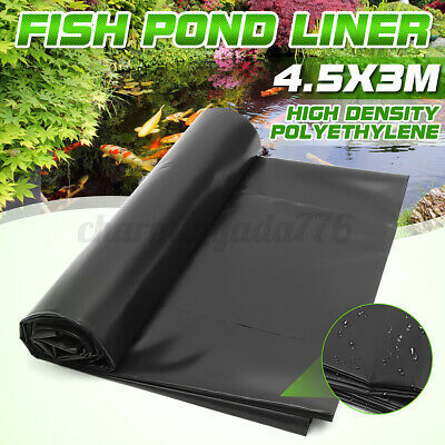 33FT Fish Pond Liners Liner Garden Pool HDPE Membrane Reinforced Landscaping • 53.99£