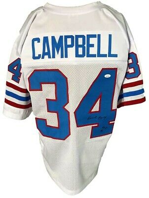 $ CDN35.21 • Buy Earl Campbell Autographed Pro Style White Jersey JSA Authenticated