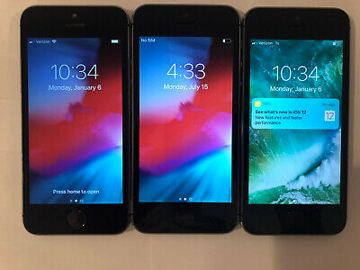 $ CDN1.29 • Buy LOT OF 3 TESTED SPACE GRAY GSM UNLOCKED GLOBAL APPLE IPhone 5S, 32GB PHONES Q50T