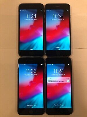 $ CDN79.56 • Buy LOT OF 4 TESTED SPACE GRAY GSM UNLOCKED GLOBAL APPLE IPhone 6, 16GB PHONES Q60T