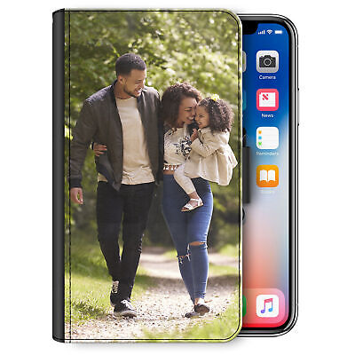 Personalised Phone Case For IPhone 11/12/Pro/Max/XR Photo PU Leather Flip Cover • 12.99£